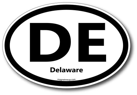 DE Delaware Car Magnet US State Oval Refrigerator Locker SUV Heavy Duty Waterproof…