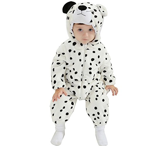 Baby Cosplay Animal Romper Animal Onesie sleepwear toddler Romper (XXS (59-65cm), Dalmatians) (Dalmatian Costumes For Toddlers)