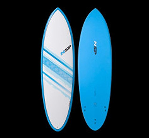 NSP Elements Hybrid 6'0 x 20 1/2 x 2 1/2 35L Funboard - Blue (Fins Included) by NSP