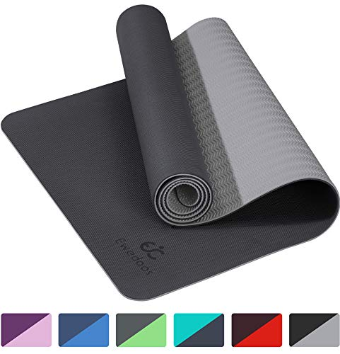 Ewedoos Eco Friendly Yoga Mat TPE Non Slip Yoga Mat