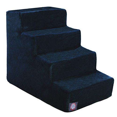 4 Step Navy Blue Suede Pet Stairs By Majestic Pet Products ()
