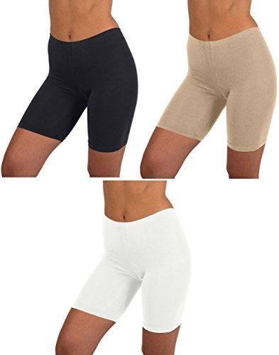 Womens 3 Pack Active Dance Running Yoga Bike - Boy Short Boxer Briefs (L/7, 3 PK (Bike Boxer Shorts)