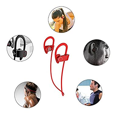 PowerLead Phad H1020 Wireless Headphone Secure Fit in-Ear Headset 8 Hour Sports Earphone Hands-free Call with Mic