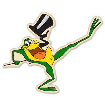Michigan J. Frog singing frog Vynil Car Sticker Decal - Select - Frogs Dazzle