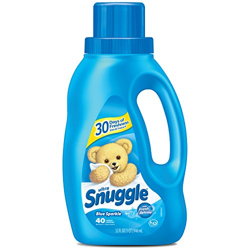 Snuggle Liquid Fabric Softener with Fresh Release, Blue Sparkle, 32 Fluid Ounces, 40 Loads
