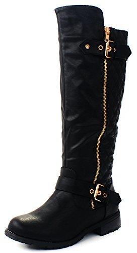 Long Boots - JJF Shoes Mango-21 Women's Winkle Back