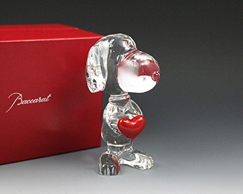 Baccarat BACCARAT Heart Snoopy figure 2613001 ' parallel import goods - Baccarat Heart
