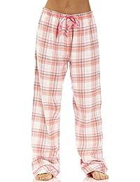Ava Rose Womens Yarn Dye Cotton Flannel Drawstring Pajama...
