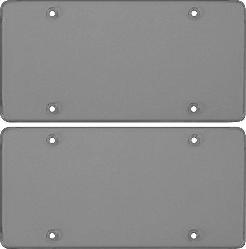 Cruiser Accessories Smoke Polycarbonate Tough Flat Novelty/License Plate Shield (2 Shields)