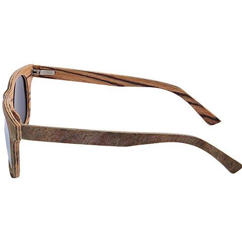 pour soleil lunettes Bleu forme à pierre carrée soleil de soleil Peggy de UV lentille lunettes en TAC conduite protection hommes de main jambe polarisée en plage Gu la Couleur Orange Lunettes bois wPBxqAfz