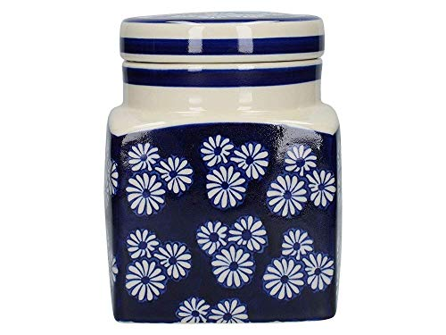 (London Pottery Ceramic Storage Canisters Jar Caddies in 3 Blue & White Designs Creative Tops )