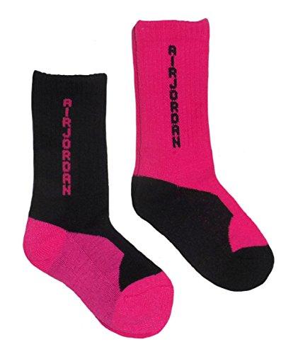 Air Jordan Little Girls' 2-Pair High Crew Socks (Small)