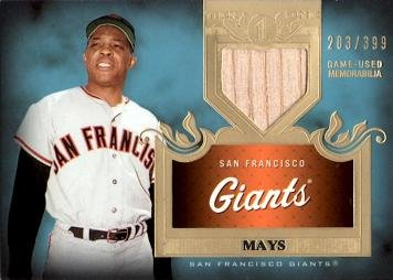 2011 Topps Tier One Top Shelf Relics Baseball #TSR48 Willie Mays Game Used Bat Card - Only 399 made!