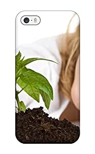 Awesome Case Cover/iphone 5/5s Defender Case Cover(little Girl With Plant)