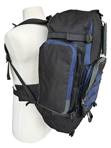 Großer Frontlader Backpacker Camping Rucksack - 50 bis 55 Liter L Volumen ZKvxDYwKc9