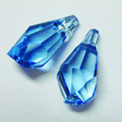 Swarovski Elements Crystal Polygon, Aquamarine, 13mm by - Crystal Polygon Swarovski
