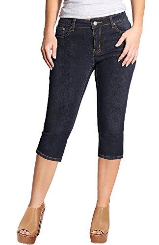 Blue Denim Capri Pants - 3