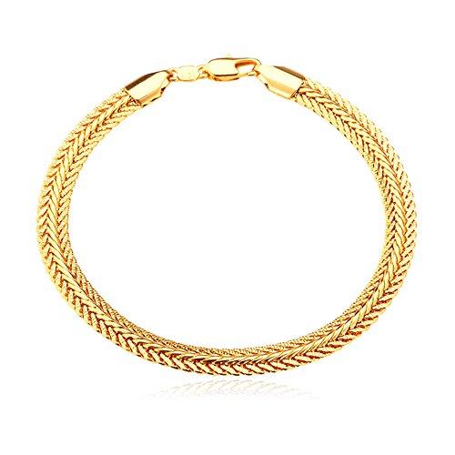U7 Plated Platinum Foxtail Bracelet