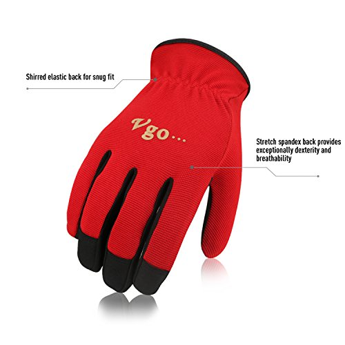 Vgo... AL-8736 Multi-Functional Gardening Training Crafting Work Gloves Value Pack(5-Pairs, 5 Color, Size M/L/XL) by Vgo... (Image #1)