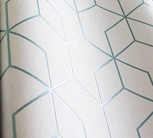 NEWROOM papel pintado blanco geométrico Sechseck gráfico tejido no tejido blanco moderno Bauhaus: Amazon.es: Bricolaje y herramientas