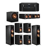 Klipsch 7.1 System with 2 RP-8000F Floorstanding Speakers, 1 Klipsch RP-504C Center Speaker, 4 Klipsch RP-500M Surround Speakers, 1 Klipsch SPL-120 Subwoofer, 1 Marantz SR7012 A/V Receiver