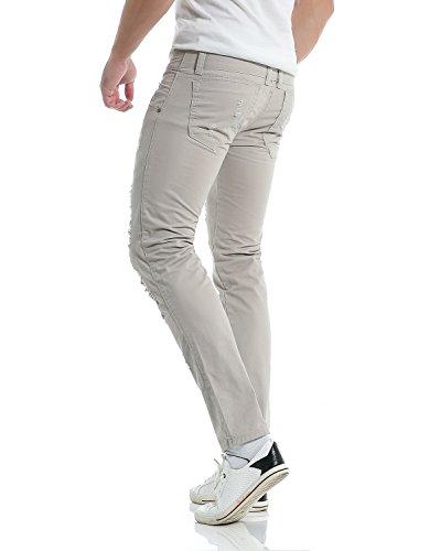 Déchiré Chino Moderne Clair En Jeans D'imitation Slim Fit Casual Gris Pantalon Missmao Coton Homme Mélange Ixq67w0
