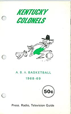 1968-1969 Kentucky Colonels ABA Press Guide em binder version hole punch