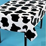 Fun Express Lightweight Cow Print Tablecloths (Set of 6), 54 x 72''