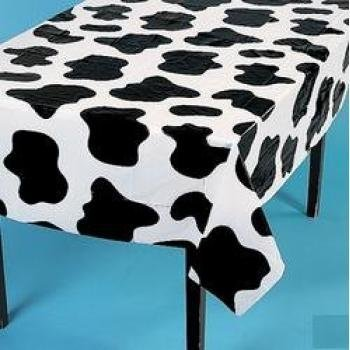 Fun Express Lightweight Cow Print Tablecloths (Set of 6), 54 x 72""