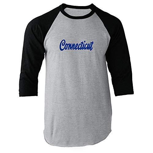 Connecticut Retro Vintage Travel Black M Raglan Baseball for sale  Delivered anywhere in USA