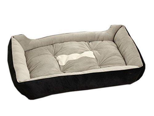 La vogue nero ossa di cane letto cuccia con cuscino per cani gatti lettino l - Lettino attaccato al letto ...