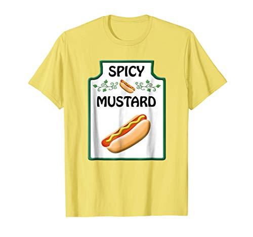 Mens Easy Costume T-Shirt Ketchup Mustard & Relish