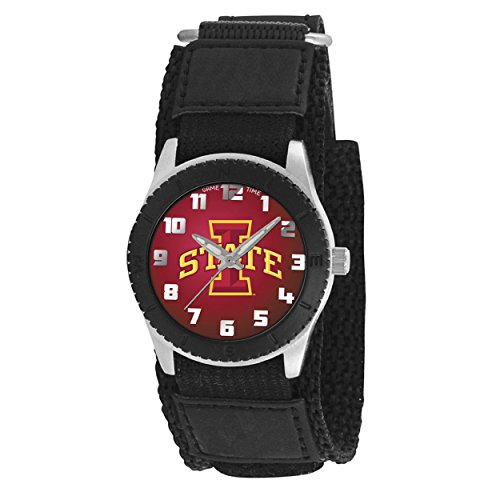 IOWA STATE University CYCLONE youth ladies black adjustable velcro watch free shipping - Iowa State Cyclones Ladies Watch
