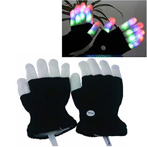 Light Up Girl Halloween Costumes (HITOP Kids Led Gloves, Flashing Colorful Light Up Show For Halloween Christmas Gifts)