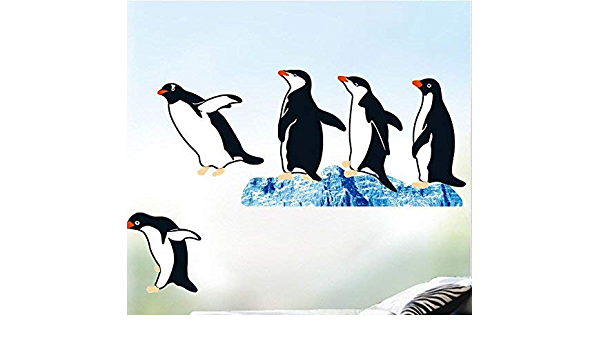 Removable Animals Stickers Penguin Art Decoration Bedroom Family Wall Sticker CO