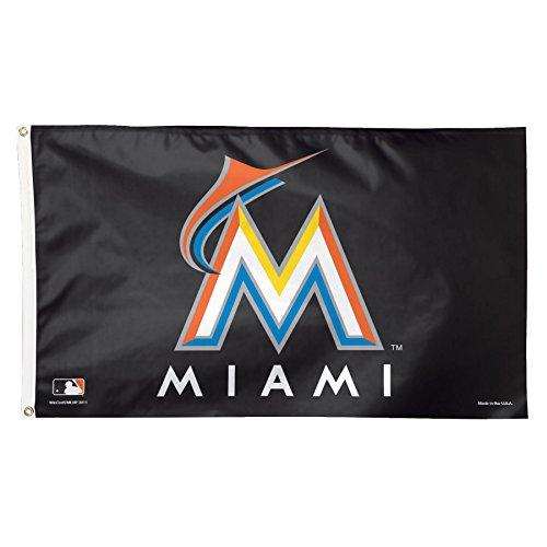 MLB Miami Marlins Deluxe Flag, 3 x 5', Multicolor