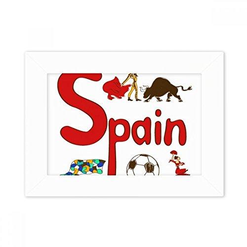 DIYthinker Spain National symbol Landmark Pattern Desktop Photo Frame White Picture Art Painting 5x7 inch by DIYthinker
