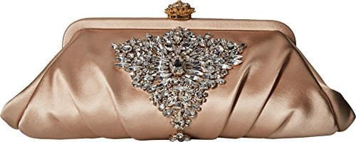 Badgley Mischka Women's Gem Clutch Nude One Size by Badgley Mischka