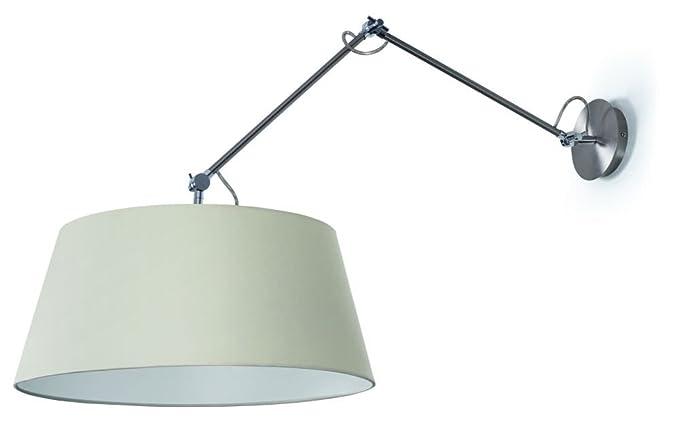 EXO lighting EASY - Pantalla ø200cms cotoné blanco, casquillo E27, color Niquel satinado