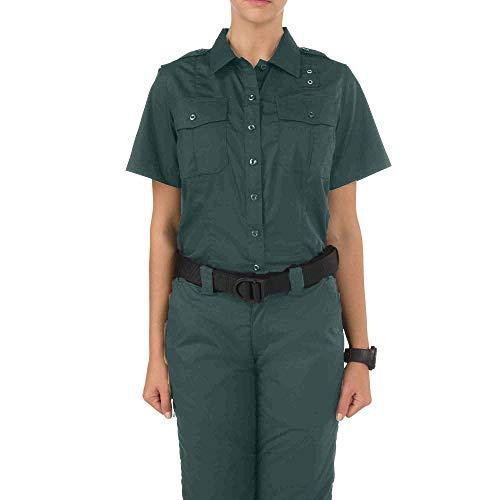 5.11 Women's Taclite PDU Class-A Short Sleeve Tactical Shirt, Style 61167, Spruce Green, XL Regular