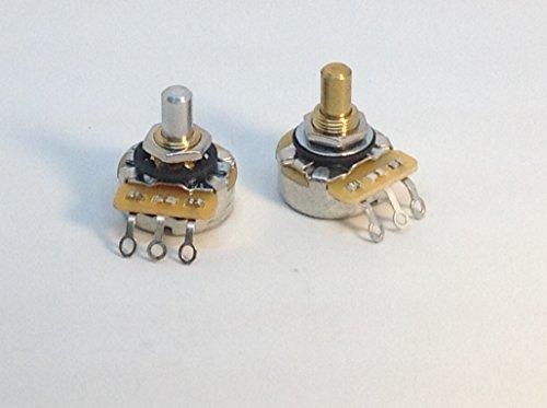 - 2 CTS Full Size Solid Shaft Pots 1x 500KA 1x 250KA Hot Rod Set Potentiometers