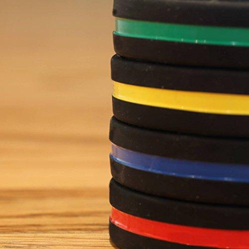 Sayitbands Thin Green Line Silicone Wristband Bracelets