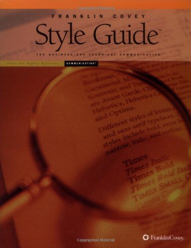 Franklin Covey Style Guide Pdf