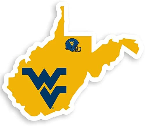 NCAA Siskiyou Sports Fan Shop West Virginia Mountaineers Home State Decal 3 pack Team Color