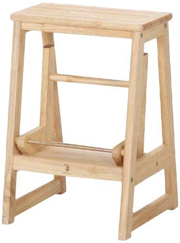 不二貿易 ステップ ラダー ボヌール 木製 ミニ 脚立 60070 B00HE22LDG