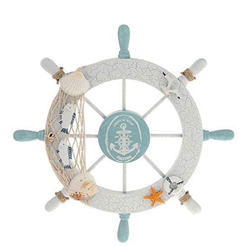 WEBI Nautical Decor Ship Wheel Steering Wheel Decor for Bathroom,Bedroom,Club,Cafe~Gift for Beach Theme Party Decorations, Beach Wedding Decorations,Nautical Wall Decor. Fish Wheel Decor