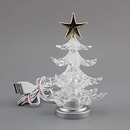 zero121 usb christmas tree mini christmas tree small christmas tree colorful christmas tree mini 7 colors - Small Metal Christmas Tree