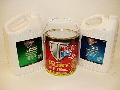 Por-15 Semi-gloss Black 3 Gallon Rust Preventative Paint Kit