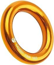 PROND Aluminum Rappel Ring, Climb Perfect Tension Aluminum Alloy O-Ring, 23KN Rappel Rings for Rock Climbing A