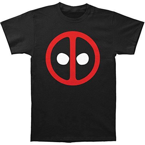 Deadpool Logo Symbol T-shirt (Large, Black)